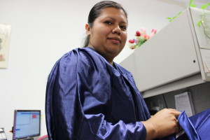 Briya grad before the ceremony
