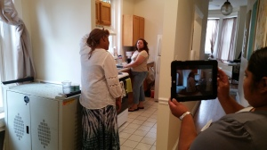 Briya student filming a kitchen scene