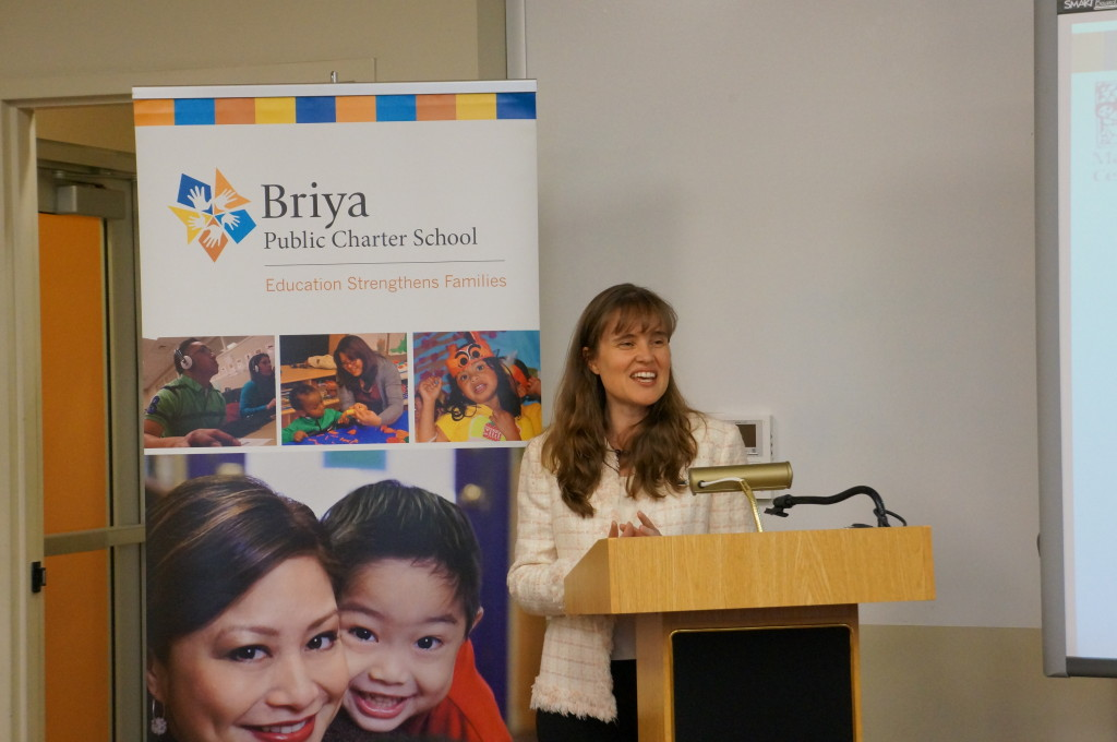 The new MA students were welcomed by Christie McKay, Executive Director of Briya